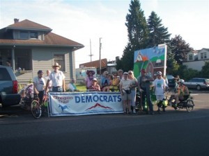 Oregon Trail Democrats Float in the 2010 Sandy Parade 002