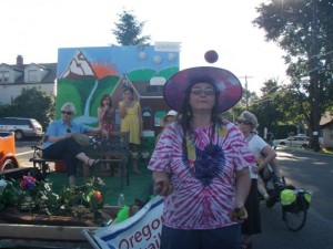 Oregon Trail Democrats Float in the 2010 Sandy Parade 009