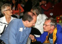 Left to right: Suzanne Van Orman, Dave Hunt, and Earl Blumenauer
