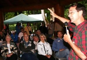 Oregon Attorney General John Kroger & audience